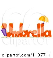 The Word Umbrella For Letter U
