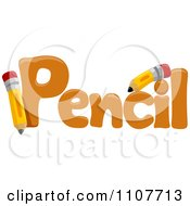 Clipart The Word Pencil For Letter P Royalty Free Vector Illustration