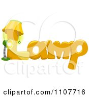 Clipart The Word Lamp For Letter L Royalty Free Vector Illustration