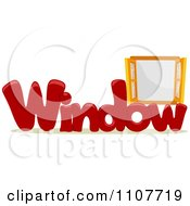 Clipart The Word Window For Letter W Royalty Free Vector Illustration