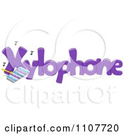 Clipart The Word Xylophone For Letter X Royalty Free Vector Illustration