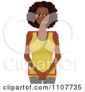 Clipart Happy Black Woman With A Square Figure Royalty Free Vector Illustration by BNP Design Studio