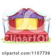 Clipart Empty Circus Stage With Bunting Flags Royalty Free Vector Illustration