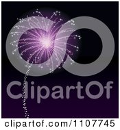 Clipart Purple Firework Bursting In A Night Sky Royalty Free Vector Illustration