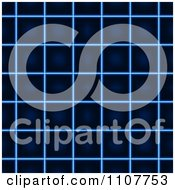 Clipart Blue Glowing Grid Background Royalty Free Vector Illustration