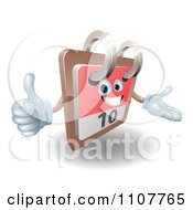Clipart 3d Happy Desk Calendar Holding A Thumb Up Royalty Free Vector Illustration