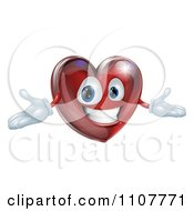 Clipart 3d Happy Red Heart With Open Arms Royalty Free Vector Illustration