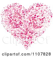 Pink With Hearts Forming A Larger Heart