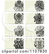 Clipart Victorian Floral Business Card Designs Royalty Free Vector Illustration