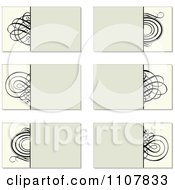 Beige And Black Swirl Business Card Designs