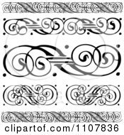Clipart Black And White Swirl Borders And Rules Royalty Free Vector Illustration by BestVector
