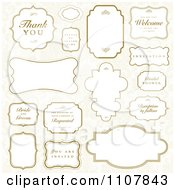 Clipart Wedding Frames 1 Royalty Free Vector Illustration by BestVector