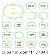Clipart Wedding Frames 2 Royalty Free Vector Illustration by BestVector