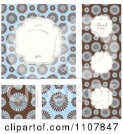 Clipart Set Of Brown And Blue Wedding Invitation Designs Royalty Free Vector Illustration