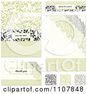 Clipart Set Of Vine Wedding Invitation Designs Royalty Free Vector Illustration by BestVector