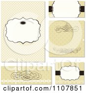 Clipart Set Of Floral Wedding Invitation Designs Royalty Free Vector Illustration