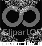 Clipart Victorian Background With Ornamental Designs And Copyspace Royalty Free Vector Illustration