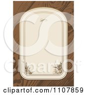 Clipart Beige Floral Frame On Wood Royalty Free Vector Illustration by BestVector
