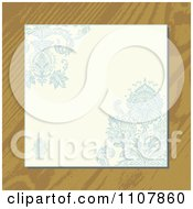 Clipart Victorian Floral Invite On Wood Royalty Free Vector Illustration