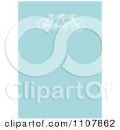 Clipart Vintage Tandem Bicycle On Blue Royalty Free Vector Illustration by BestVector
