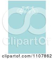 Vintage Tandem Bicycle On Blue