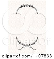 Clipart Wreath Frame On A Floral Pattern Royalty Free Vector Illustration