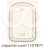 Clipart Ornate Rounded Frame With Copyspace 2 Royalty Free Vector Illustration