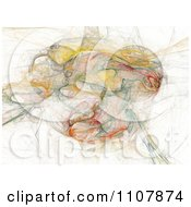 Clipart Abstract Colorful Fractal On White Royalty Free Illustration