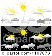 Clipart Weather Icons 1 Royalty Free Vector Illustration