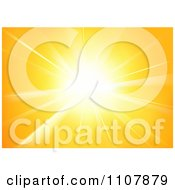 Clipart Background Of Yellow Sunshine Royalty Free Vector Illustration by dero
