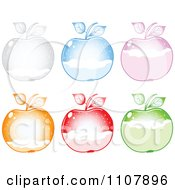 Clipart Colorful Apples With Snow Levels Royalty Free Vector Illustration by Andrei Marincas