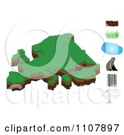 Clipart European Map With Dirt Grass Water Road Tire Tracks And Messenger Icons Royalty Free Vector Illustration by Andrei Marincas