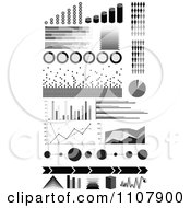 Clipart Black And White Informational Statistic Graphics Royalty Free Vector Illustration by Andrei Marincas