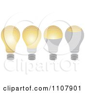 Clipart Halftone Light Bulbs Shown At Different Levels Royalty Free Vector Illustration by Andrei Marincas