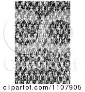 Clipart Abstract Black And White Background Pattern Royalty Free Vector Illustration