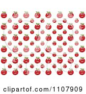 Clipart Happy Red Apple Pattern Royalty Free Vector Illustration