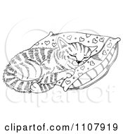 Clipart Cat Napping On A Pillow Royalty Free Illustration