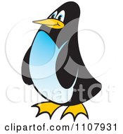 Clipart Happy Penguin Royalty Free Vector Illustration by Lal Perera