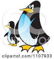 Clipart Baby And Parent Penguin Royalty Free Vector Illustration by Lal Perera