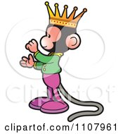 Clipart Happy King Monkey In Profile Royalty Free Vector Illustration by Lal Perera