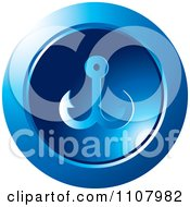 Clipart Round Blue Anchor Icon Royalty Free Vector Illustration