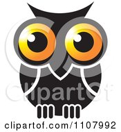 Clipart Gold And Black Owl Royalty Free Vector Illustration by Lal Perera