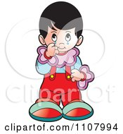 Clipart Crying Girl Royalty Free Vector Illustration