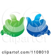 Clipart Green And Blue Baby Hands Royalty Free Vector Illustration by Lal Perera
