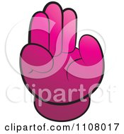 Clipart Pink Chair In The Shape Of A Hand Royalty Free Vector Illustration