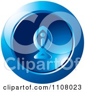 Clipart Round Blue Fish Information Icon Royalty Free Vector Illustration by Lal Perera