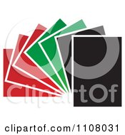 Clipart Red Green And Black Papers Fanned Out Royalty Free Vector Illustration by Lal Perera