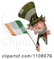3d Leprechaun Holding An Irish Flag 6
