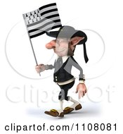 3d Korrigan Dwarf Holding A Breton Flag 2