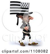 3d Korrigan Dwarf Holding A Breton Flag 3